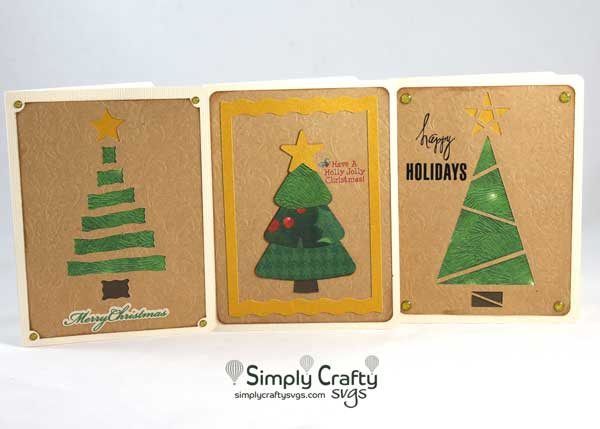 Christmas Tree Card Set SVG FIle