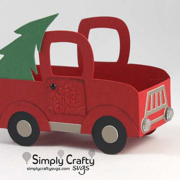 Red Truck Treat Box SVG File
