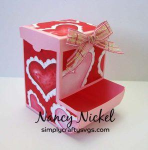 Valentine's Candy Dispenser by Nancy