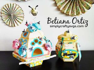 Bee HIve and Honey Jar by Betiana