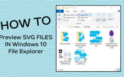 Windows 10 How to Preview SVG Files in File Explorer
