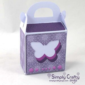 Butterfly Gable Box SVG File