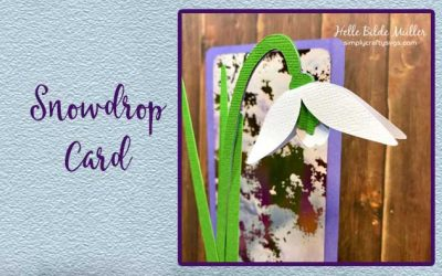 Snowdrop Card by Helle