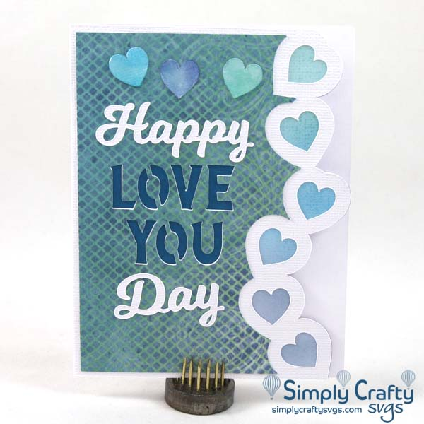Heart Border Love Card SVG file