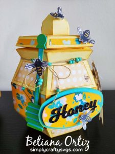 3D Honey Jar SVG by Betiana