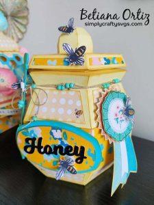 3D Honey Jar SVG by Betiana