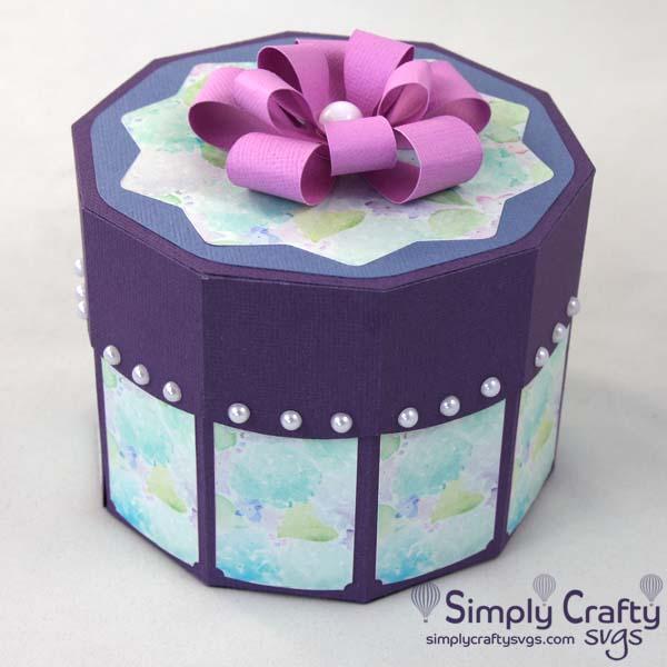 Decagon Gift Box SVG File
