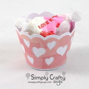 Lots of Hearts Treat Cup SVG file