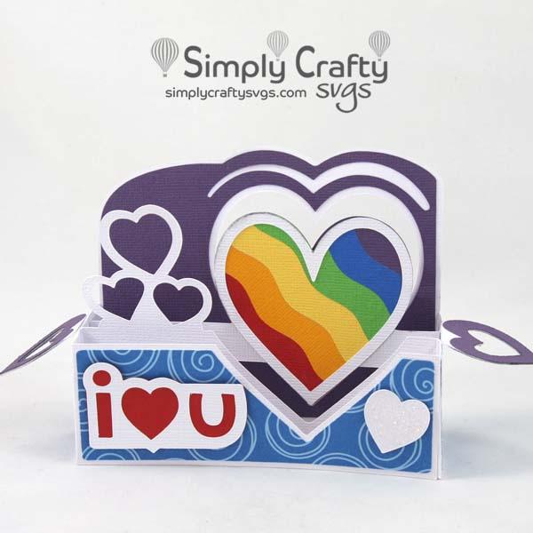 Heart Border Love Card SVG file