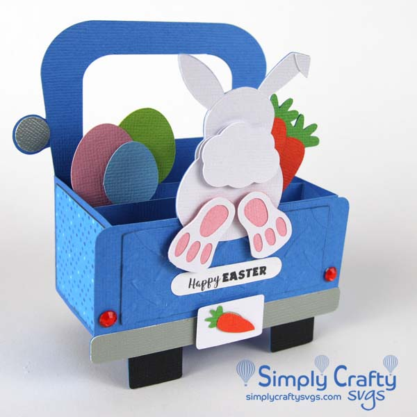 Bunny Truck Card SVG file