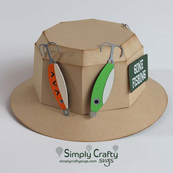 Fishing Hat Box SVG FIle