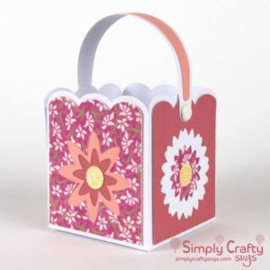 Flower Box with Handle SVG File.