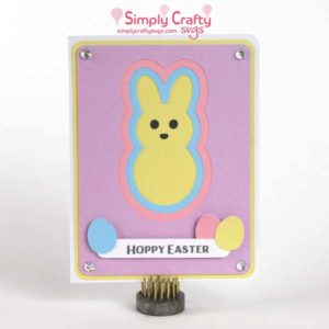 Layered Bunny Card SVG File
