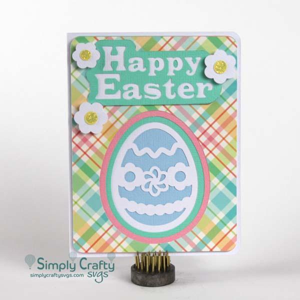 Layered Easter Egg Card SVG File