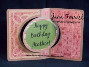 Birthday Swing Card by Jana