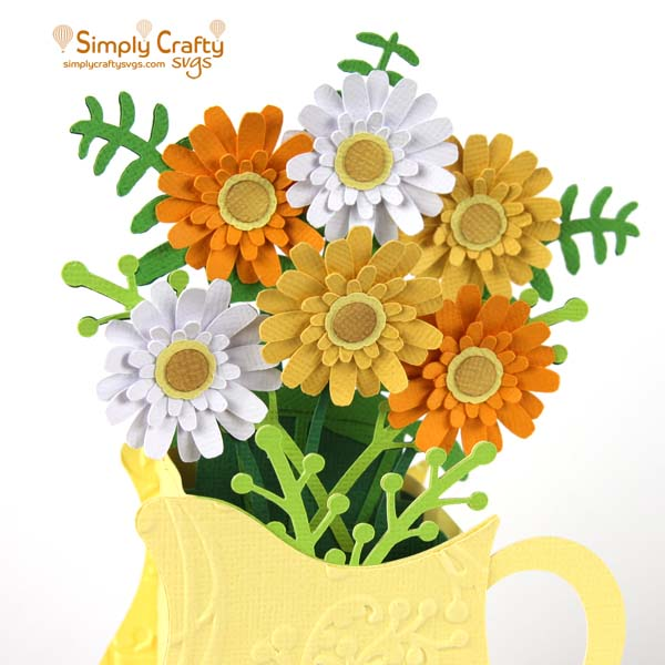 Pitcher of Flowers Card SVG FIle