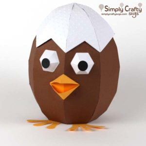 Chocolate Cracked Chick SVG File