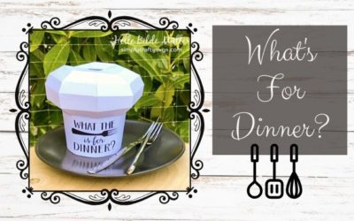 What's for Dinner – Chef Hat by Helle