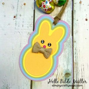Layered Bunny Tag