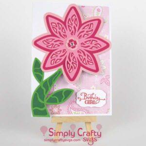 Birthday Layered Flower Card SVG File