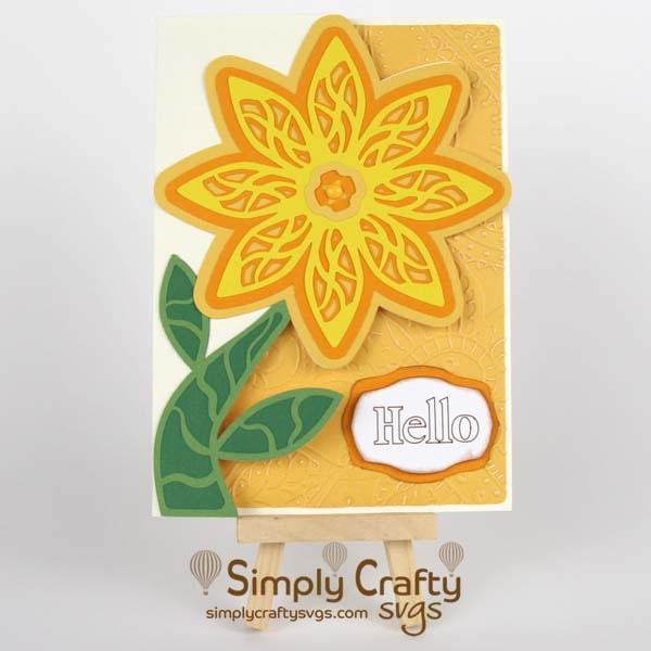 Layered Flower Card SVG File