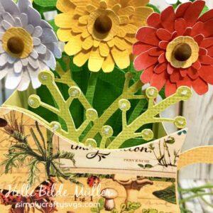 Pitcher of Flowers Closeup