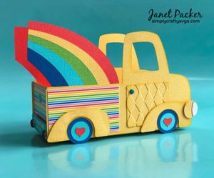 Rainbow Truck Box by Janet