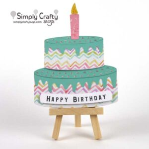 Birthday Cake Card SVG FIle