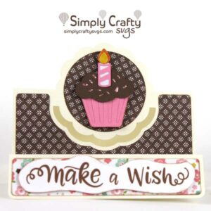 Cupcake Center Panel Card SVG File