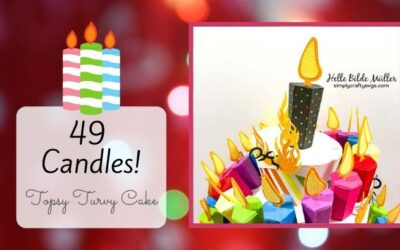 49 Candles Topsy Turvy Cake by Helle