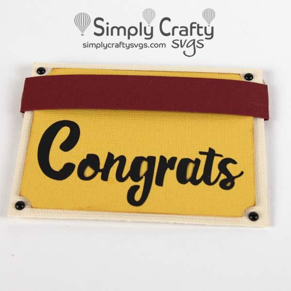 Diploma Gift Card Holder SVG File