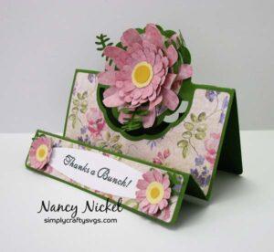 Flower Center Panel Card by Nancy