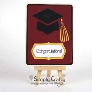 Grad Hat Card SVG File