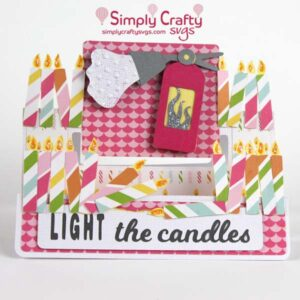 Light the Candles Card SVG File