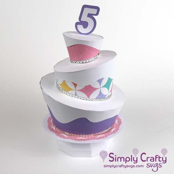 Topsy Turvy Cake SVG File
