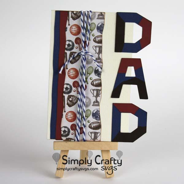 Dad Card SVG File