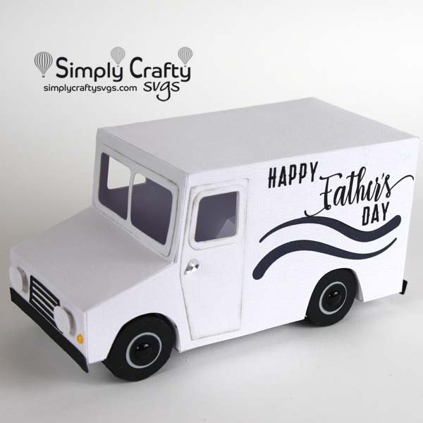 Father's Day Delivery Truck SVG file