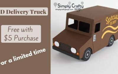 (Expired Offer) FREE Delivery Truck SVG for Limited Time