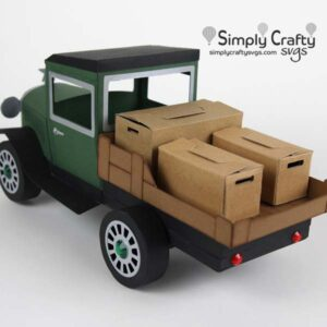 Vintage Flatbed Truck with boxes