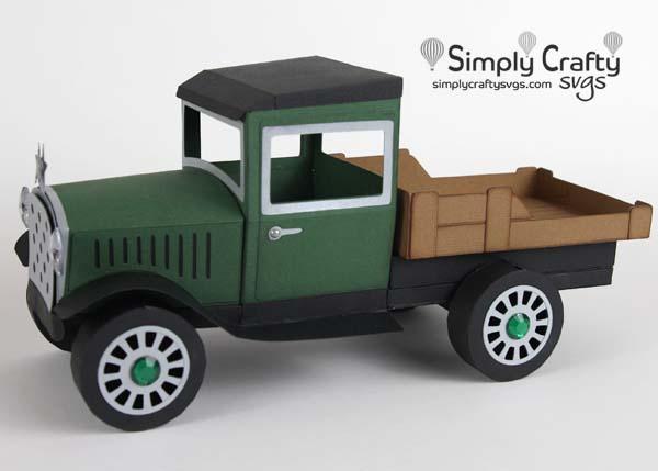 Vintage Flatbed Truck SVG File