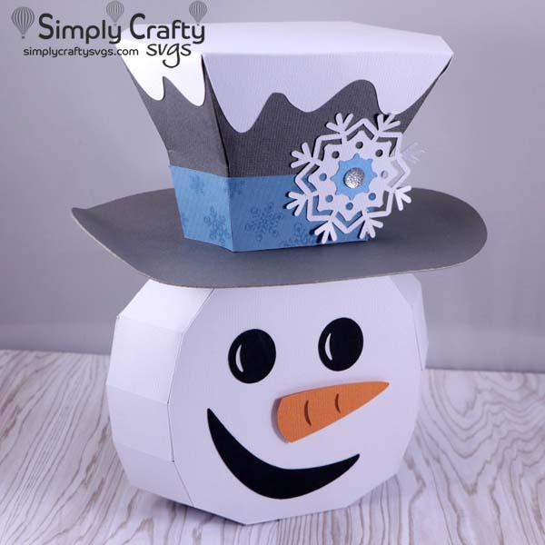 Cheerful Snowman SVG File