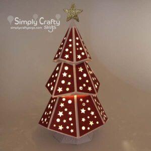 Christmas Tree Luminary SVG File