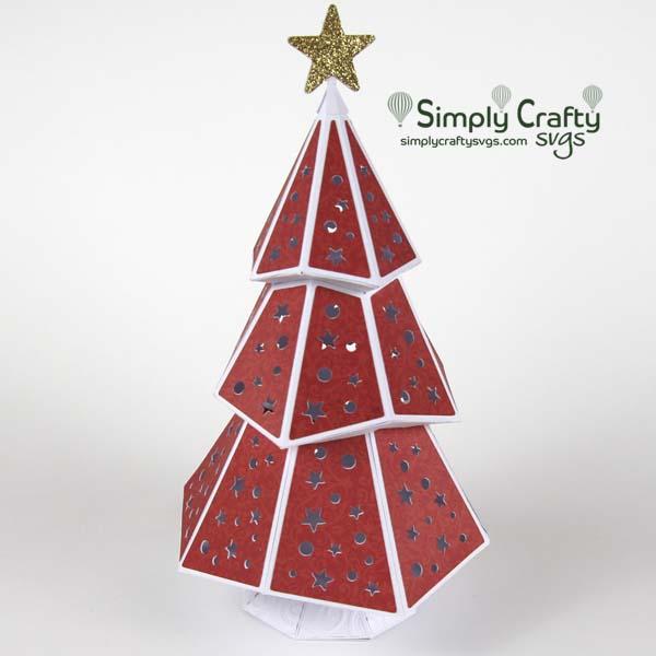 Christmas luminary you can make using the Christmas Tree Luminary SVG File