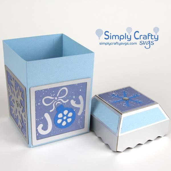 Joy Gift Box SVG File