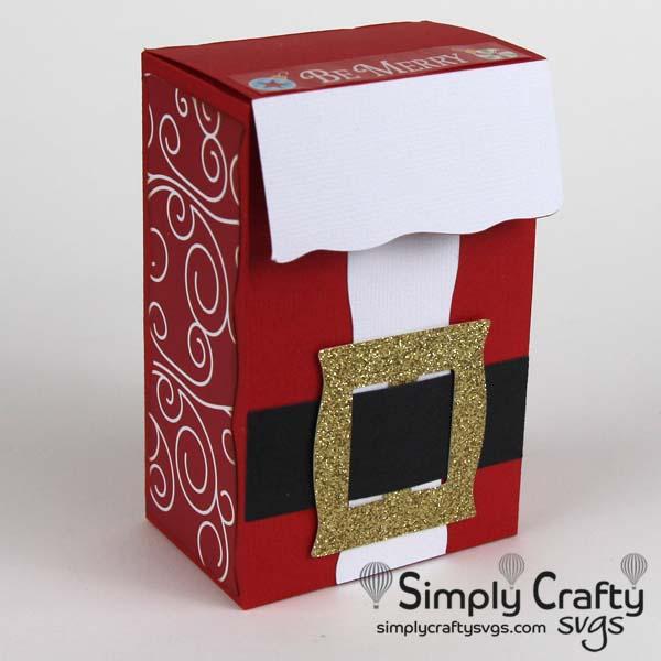 Santa's Suit Box SVG FIle