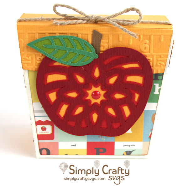 Apple Gift Box SVG File