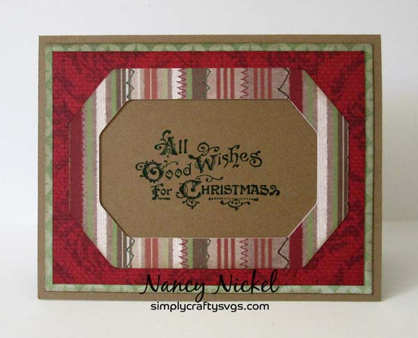 Christmas Frame Cards by Nancy