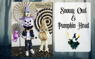 Snowy Owl and Pumpkin Head by Betiana