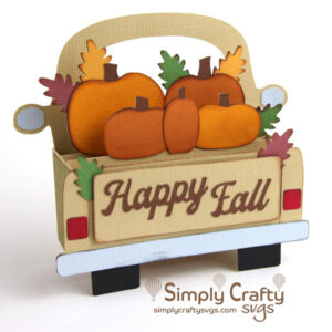 Fall Truck Box Card SVG File