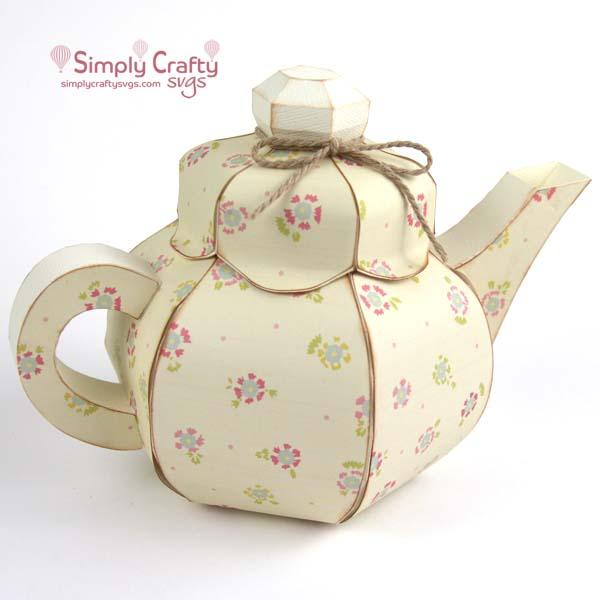Round Teapot SVG File